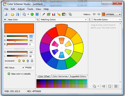 color_schemer_screenshot -روانشناسی رنگ ها در طراحی وب
