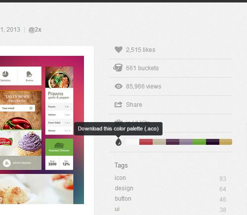dribbble-color-palettes - روانشناسی رنگ ها در طراحی وب
