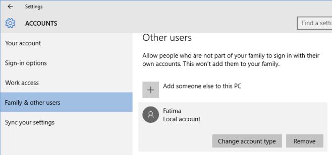 تغییر حساب کاربری استاندارد به ادمین در ویندوز ۱۰