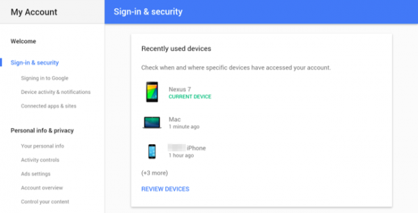 اپ Google Settings
