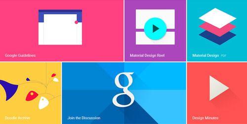 طراحی نیمه مسطح گوگل