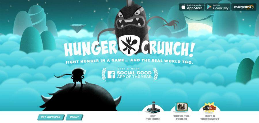 طراحی hungercrunch