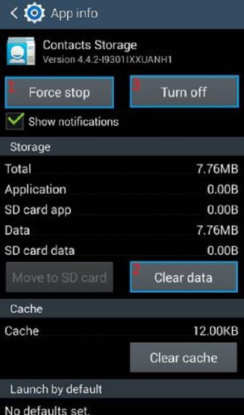 پیغام خطای android.process.acore